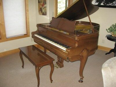 1921 Chickering Ampico Reproducing Baby Grand Piano with rare Louis XV case