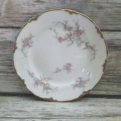 Vintage 1940's Taylor Smith and Taylor Pink Floral Bread & Butter Plate
