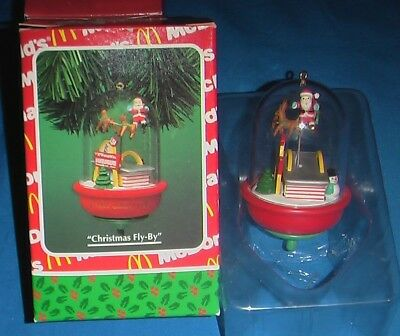Enesco NEW 1994 VINTAGE McDonald's Advertising Santa Christmas Fly-By ORNAMENT