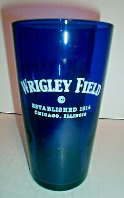Wrigley Field Chicago Pint Beer Glass Cobalt Blue