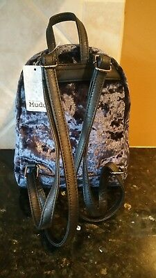 MINI BACK PACK Navy Blue Suede Mudd Free Shipping -  17.99  1e55428357d4a
