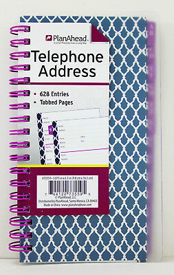 planahead medium fashion telephone address book spiral tabbed pages