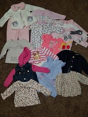Baby girls winter fall spring clothes lot - excellent condition 3-6 mo, 6 mo