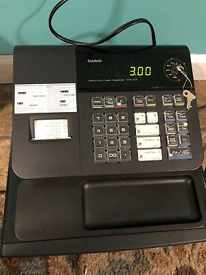 Casio PCR 272 Cash Register Small Business Retail Sales  WORKS