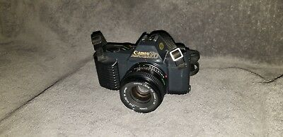 Vintage Canon T50 Camera with 50mm Lens with strap