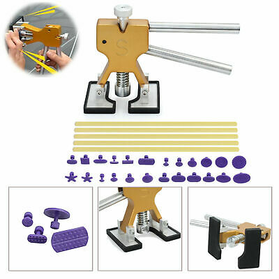 Car Paintless Dent Repair Remover Dint Hail Damage Puller Lifter 18 Tab Tool Kit
