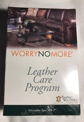 "Worry No More Leather Care Program for Leather Types ""A & P"" Leather Master NIP"