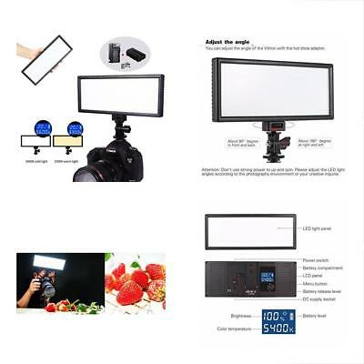 "L132T 0.78""/2cm Ultra Thin CRI95 5600K/3300K Bi-color LED Video Light Dimmable ,"