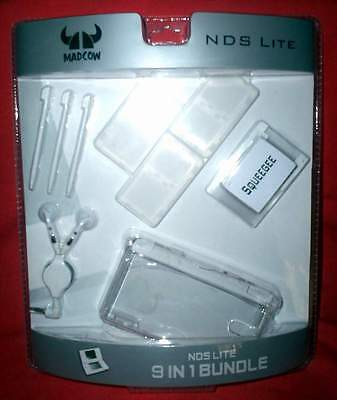 MADCOW Nintendo DS Lite 9 in 1 Bundle - Transparent Console Case - NEW