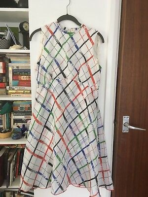 Vintage Retro Tea 70's Dress Tina Warren summer dress white