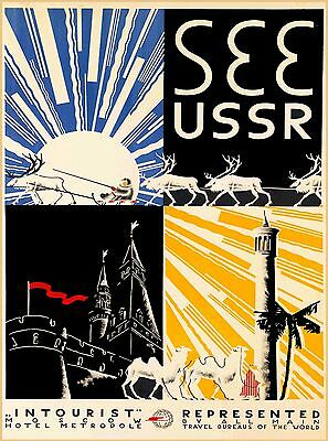 See USSR Russia Vintage Russian Travel Advertisement Art Poster Print