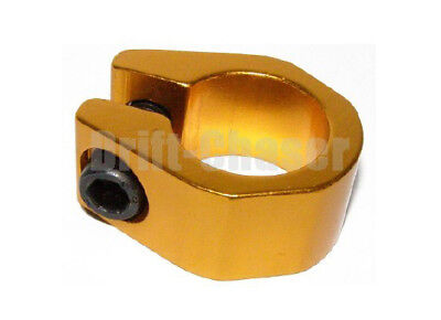 Old School Bmx Bike Tuff-Neck Style Alloy Seat Post Clamp, Size 25.4mm, Gold