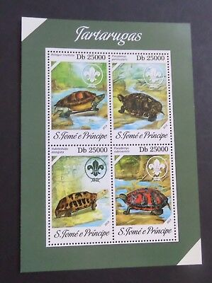 St Thomas & Prince Island 2013 Turtle MS MNH UM unmounted mint never hinged