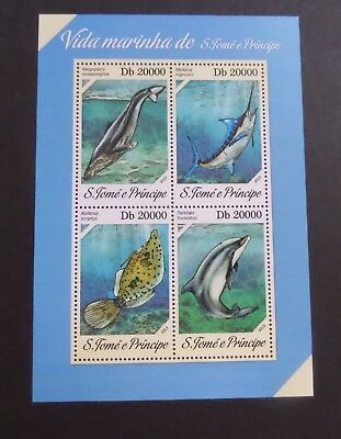 St Thomas & Prince Island 2013 MS dolphin fish  MNH UM unmounted mint