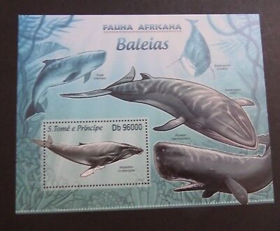 St Thomas & Prince Island 2013 MS Whales Whale sea  MS MNH UM unmounted mint