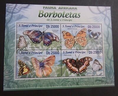 St Thomas & Prince Island 2013 MS Butterflies Moths MS MNH UM unmounted mint