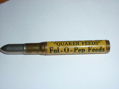 Vintage Ful-O-Pep Feeds Bullet Shape Quaker Feeds PA Advertising Pencil Rare