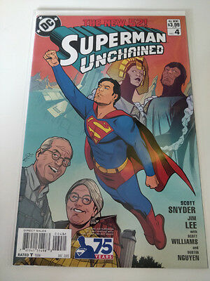 Superman Unchained #4 Chris Sprouse 1:25 Variant Cover G 1St Print  Snyder Lee