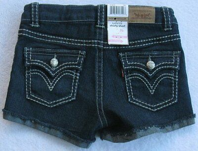 2ec3474c0c NWT LEVI'S GIRLS Blue Denim Shorts(Size 16) MSRP$36.00 NEW - $18.99 ...