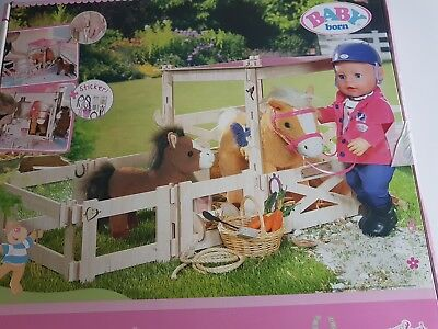 Zapf Creations - Baby Born - Pony Farm Stable with stickers