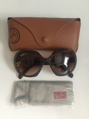 Ray Ban RB 4208 JACKIE OHH II Brown Tortoise Frame with Brown Gradient Lens 55mm