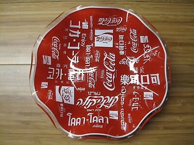 Vintage Unique Coca-Cola Multi-Language Glass Candy Dish Coke Glass Bottle