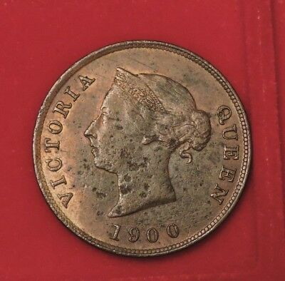 Cyprus 1/2 Piastre Queen Victoria 1900 F Key Date  Low Mintage
