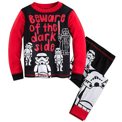 "NWT DISNEY  Star Wars PJ PALS for Boys ""BEWARE OF THE DARK SIDE"" SIZE 6 OR 7"