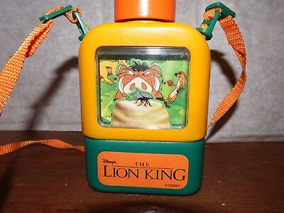 RARE Disney The Lion King flask water bottle Pumba Timone character VINTAGE