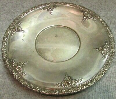 "VINTAGE 1900's WATSON STERLING SILVER 9"" PLATE TRAY  ORNATE L220 7.4 oz"