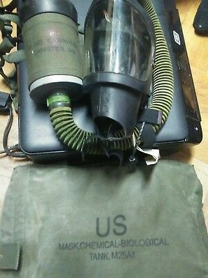 U.S. Military M25A1 Chemical-Biological Tanker Gas Mask
