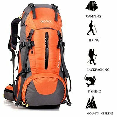 cf0c45455a3e Hiking Daypacks 50L(45+5) Backpack Waterproof Outdoor Sport Camping Fishing  With