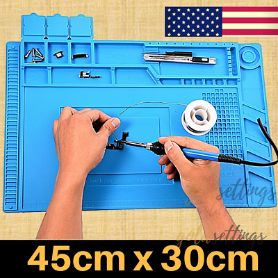 Magnetic Heat Insulation Silicone Soldering Mat ( MAGNETIZE TIPS ) Desk work pad