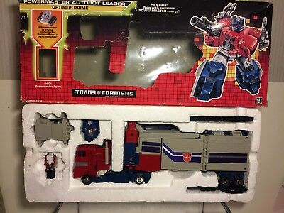 Transformers G1 Powermaster Optimus Prime Mit Box 1987❗RAR❗