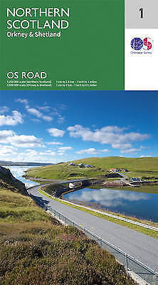 Northern Scotland Road Map - New 2016 - Ordnance Survey - 1 - Orkney Shetland