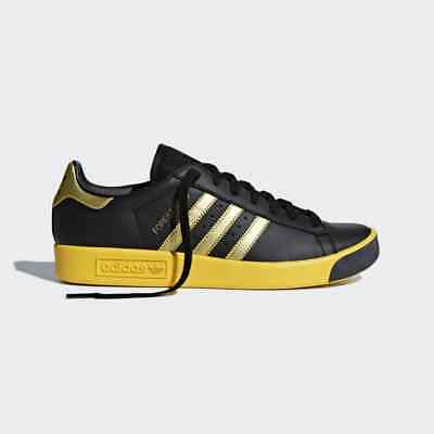 best sneakers 278ff ea013 Adidas Originals Forest Hills Sizes 6.5 to 8.5 Black Yellow Rose Gold CQ2084