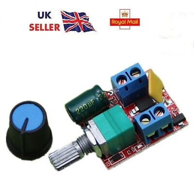 Mini DC Motor Speed Control Driver Board 3V-35V 5A PWM Controller / LED dimmer