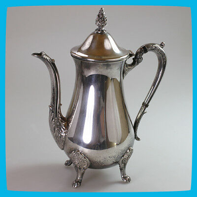 collectable old rare vintage antique Silver Plated Teapot Coffee Tea Pot Jug