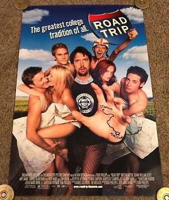 Original 2000 ROAD TRIP Movie Poster, Rolled, DS, 27x40