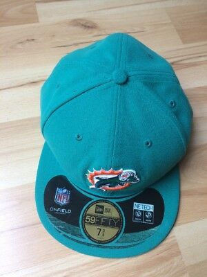 NEW ERA 59FIFTY NFL Miami Dolphins On Field Fitted Cap Hat Size 7 7 ... e123305f3