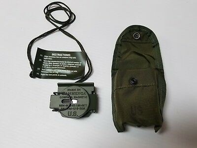 Military Tritium Magnetic Compass Model 3H Cammenga Olive Drab ARMY ISSUE New