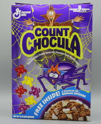 Count Chocula metallic cover Cereal Box 1993