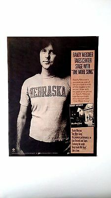 "The Eagles  Randy Meisner   ""one More Song"" Rare Original Print Promo Poster Ad"
