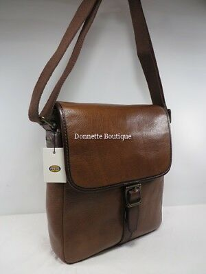 Fossil Estate Ns City Bag Leather Cognac Mbg9112222 Nwt