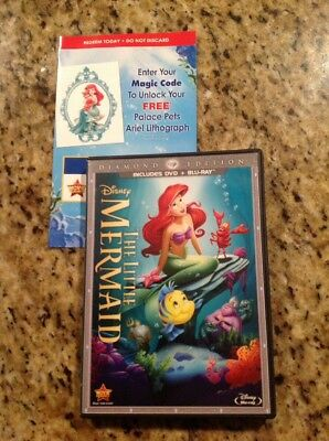 The Little Mermaid (Blu-ray/DVD,2013,2-Disc,Diamond Edition)Authentic Disney US