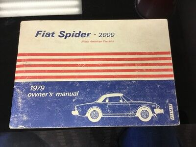 1979 fiat  spider 2000 owners manual