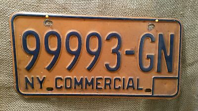Vintage New York Commercial License Plate Car Truck Tag Hot Rod Rat Rod 99993-GN