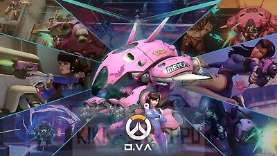 Poster 42x24 cm Videogame Overwatch Tracer Reaper Videojuego Videogame 01