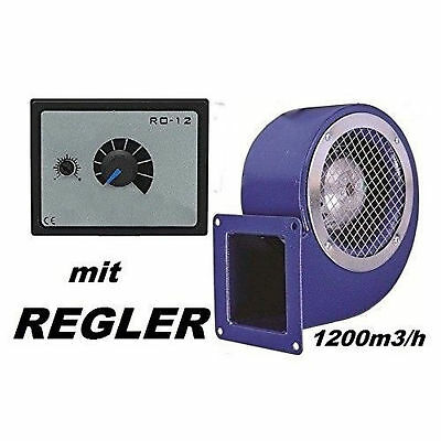 1200m3/h  Industrial Centrifugal Blower Extractor Fan with 500W Speed Controller