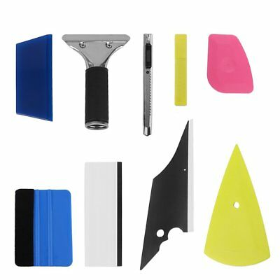 8in1 Squeegee Car Window Tinting Auto Film Install Wrapping Applicator Tools Y